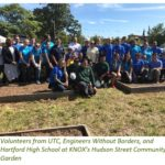 UTC, Engineers Without Borders, and Hartford High School Install Rainwater Harvesting System at KNOX's Community Garden